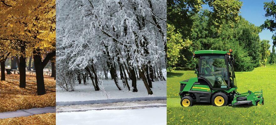 Teed lumest puhtaks väiketraktoriga!